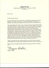 How To Write A Recommendation Letter For A Teacher Letter Of Recommendation From Special Education Teacher From