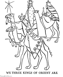 Small Picture The Christmas Story Coloring Pages Three Wisemen Coloring Home