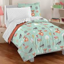 Comforters Quilts and Bedding Sets – Ease Bedding with Style & Dream Factory Casual Woodland Friends Comforter Set, Twin, Green Adamdwight.com