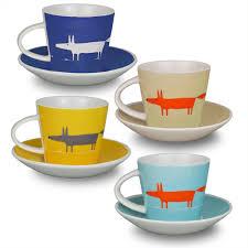 scion mr fox set of  espresso cup and saucers  multi amazonco