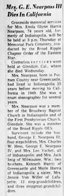 Enola Glynn Harris Nearpass, sister to Merle Gleason Harris ...