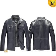 navy mens leather jacket cw806050 cwmalls com