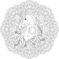 Obraz Unicorn Tetování Omalovánka