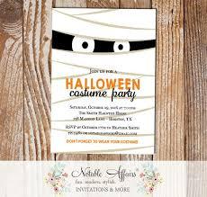 Mummy Halloween Costume Party Invitation Notable Affairs