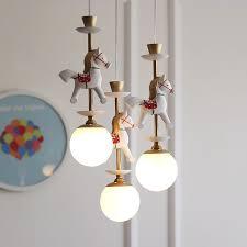 modern kids room white globe glass pendant lamp 1 3 light ceiling fixture decor