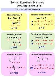 solving equations worksheets algebra
