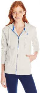 U S Polo Assn Juniors Easy French Terry Hoodie White Blue