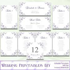 Wedding Seating Chart Template Per Table Top Plan Free