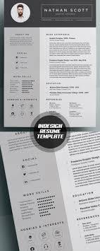 Indesign Resume Templates Indd Best Free Template 2016 Vozmitut