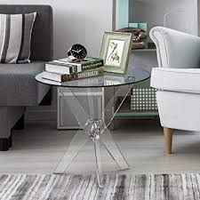 Clear acrylic furniture Coffee Table Image Unavailable Amazoncom Amazoncom Furniture Of America Leras Contemporary Clear Acrylic