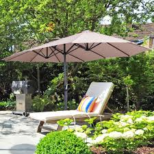 10ft patio parasol umbrella iron tilt
