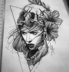 сделать татуировку девушка на бедро в городе москва по эскизу