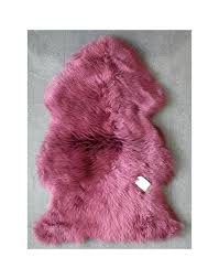 pink sheep skin rug sheepskin rugs mulberry sheepskin rug faux fur throws loading zoom dusty pink pink sheep skin rug on pale