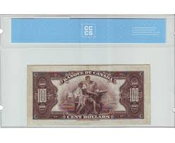 Bank Of Canada 100 00 Note 1935 Bc 16 Osborne Towers Serial