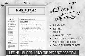 2 Page Resume Template Cv Basic Resume Word Resume Man Mens Resume