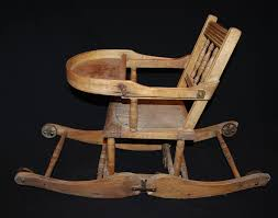 antique wooden rocking chairs identification