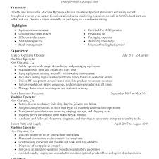Sample Machinist Resumes Work Objectives For Resume Objective Samples Machinist Database