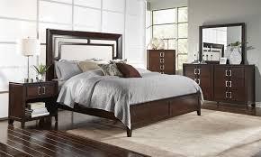 Superb Samuel Lawrence 4 Pc Brighton Dark Wood Panel Bedroom Set Samuel Lawrence  Pine Bedroom Furniture
