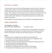 Cna Sample Resume Nursing Assistant Cna Resume Perfect.