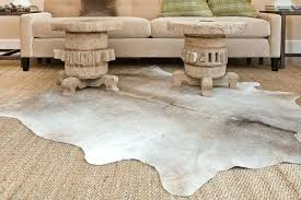 grey cowhide rug cream and faux patchwork x22
