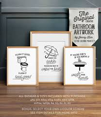 Free Printable Bathroom Art Simple Funny Bathroom Art PRINTABLE Art Bathroom Wall Decor If You Etsy