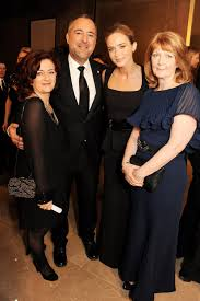 Emily Blunt posed with Hilary Oliver, Rich Cline, and Janice Dixon. | Emily  Blunt Honors Her Fellow Brits at LFCC Awards | POPSUGAR Celebrity Photo 18