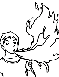 Coloring Page : Fire Coloring Pages Breathing Ink Page Fire ...