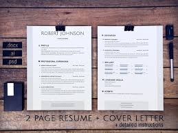 Resume 2 Pages Adorable 48 Pages Resume And Cover Letter USA HolgerWurst