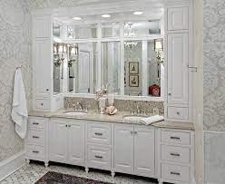 Minneapolis Designer Bathroom Vanities Traditional Bathroom Vanity Built In Built In Storage Built In Vanity Cabinet With Mirror Chrome