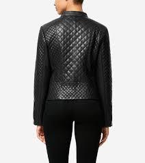 Women's Italian Smooth Lambskin Quilted Moto Jacket in Black ... & ... Italian Smooth Lambskin Quilted Moto Jacket; Italian Smooth Lambskin  Quilted Moto Jacket. #colehaan Adamdwight.com