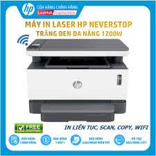 HPNOV15 Giảm 15% tối đa 1 triệu 500 nghìn] [Trả góp 0%] Máy In Laser Trắng  Đen Đa Năng HP Neverstop Laser 1200W (In/Copy/Scan/Wifi/Đen-4RY26A) – Hàng  Chính Hãng – 5.590.000 ₫ - KOUKINI