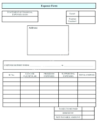 Expense Report Form Template Expense Report Form Template