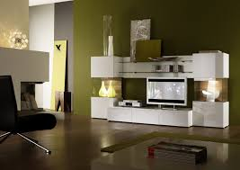 furniture white wooden wall shelving unit with tv space and shelves on wooden laminate floor