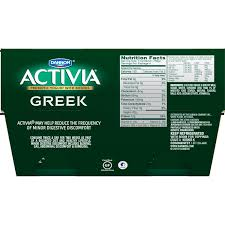 dannon activia nonfat greek yogurt vanilla 5 3 ounce pack of 4 nonfat probiotic yogurt snack amazon grocery gourmet food