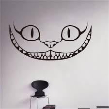 Sorridente Cheshire Cat Decalcomania Del Vinile Alice Nel Paese