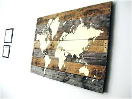 maps for wall art wall decor map of the world living room globe wooden map wall