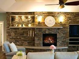 mid century modern fireplace design with slate s screen