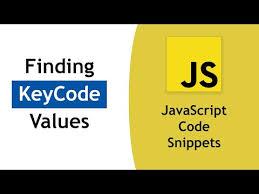 Javascript Keycode Chart Finding Keycode Values In Javascript