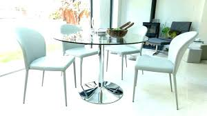large round glass dining table 8 full image set d