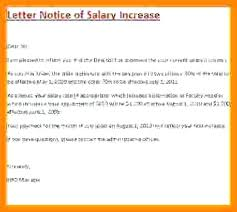 Increment Letter Adorable Employee Increase Letter Template Cassifieldsco