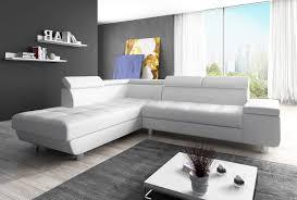 Couch Garnitur Ecksofa Sofagarnitur In Kunstleder Weiß Sofa