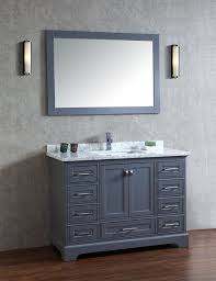 48 inch mirror. Stufurhome Chanel Grey 48 Inch Single Sink Bathroom Vanity With Mirror S