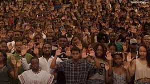 Image result for ferguson hands up boy
