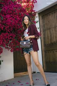 Denim Shorts and Vintage Blazer Song of Style