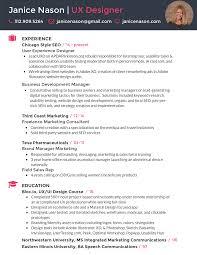 Resume Janice Nason Ux Designer