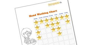 Kids Health Hand Washing Games For Children Star Chart
