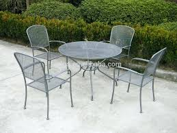 metal table and chairs outdoor metal table set metal mesh outdoor dining round table and