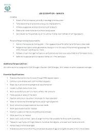 Job Description Resume Waitress Job Description Duties For Resume New Waitress Duties Resume