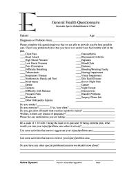 Fillable Online General Health Questionnaire1 Doc Form 12
