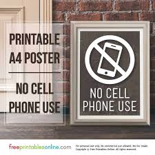 No Cell Phone Sign Printable Printable No Cell Phone Use Sign Free Printables Online